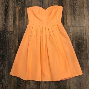J. Crew peach strapless dress